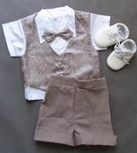 SKLADEM - letní oblek k zapůjčení, 1-2 roky, 74
