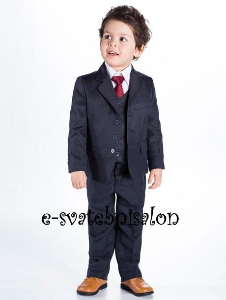 SKLADEM - tmavě modrý oblek k zapůjčení - Obrázek č. 2
