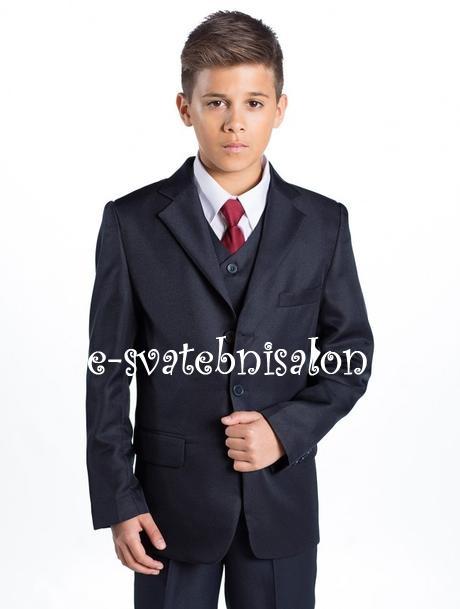 SKLADEM - tmavě modrý oblek k zapůjčení - Obrázek č. 4