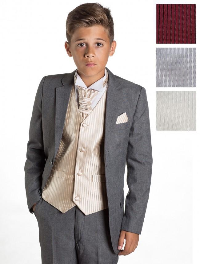 SKLADEM - šedý oblek k zapůjčení 7 a 11 let - Obrázek č. 1