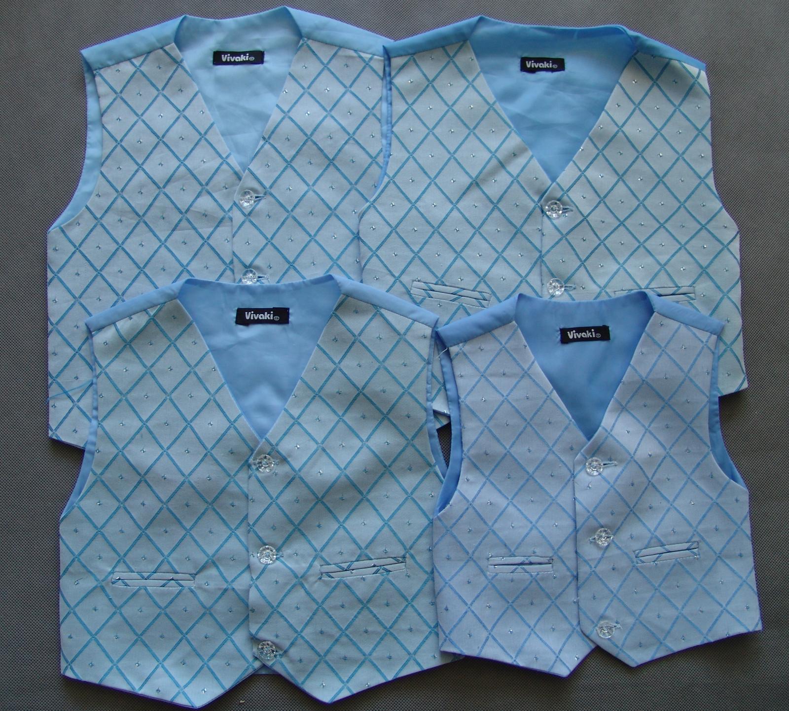 SKLADEM - modrý/černý oblek k zapůjčení - Obrázek č. 4