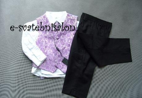 SKLADEM - k zapůjčení fialový oblek 12-18m, 9 a 12 - Obrázek č. 3