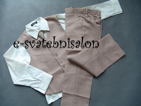 SKLADEM - k zapůjčení béžový oblek, 18-23, 4 a 5 l - Obrázek č. 4