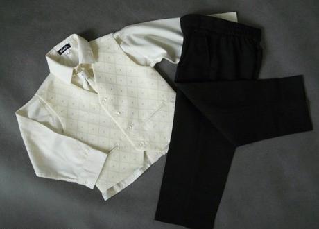SKLADEM - k zapůjčení ivory oblek, 0-3,9-12, 5 a 6 - Obrázek č. 1