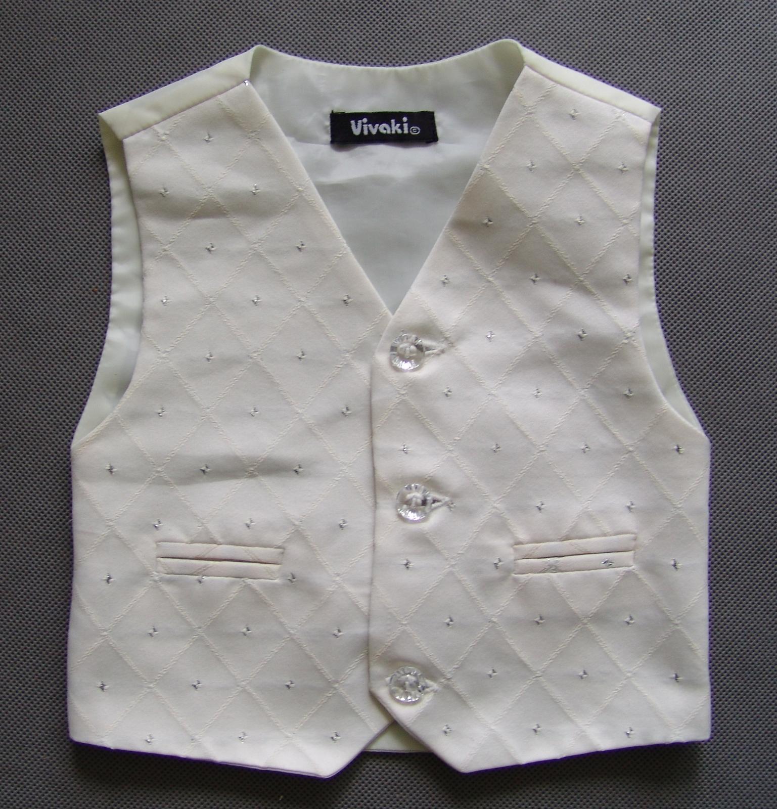 SKLADEM - k zapůjčení ivory oblek, 0-3,9-12, 5 a 6 - Obrázek č. 3