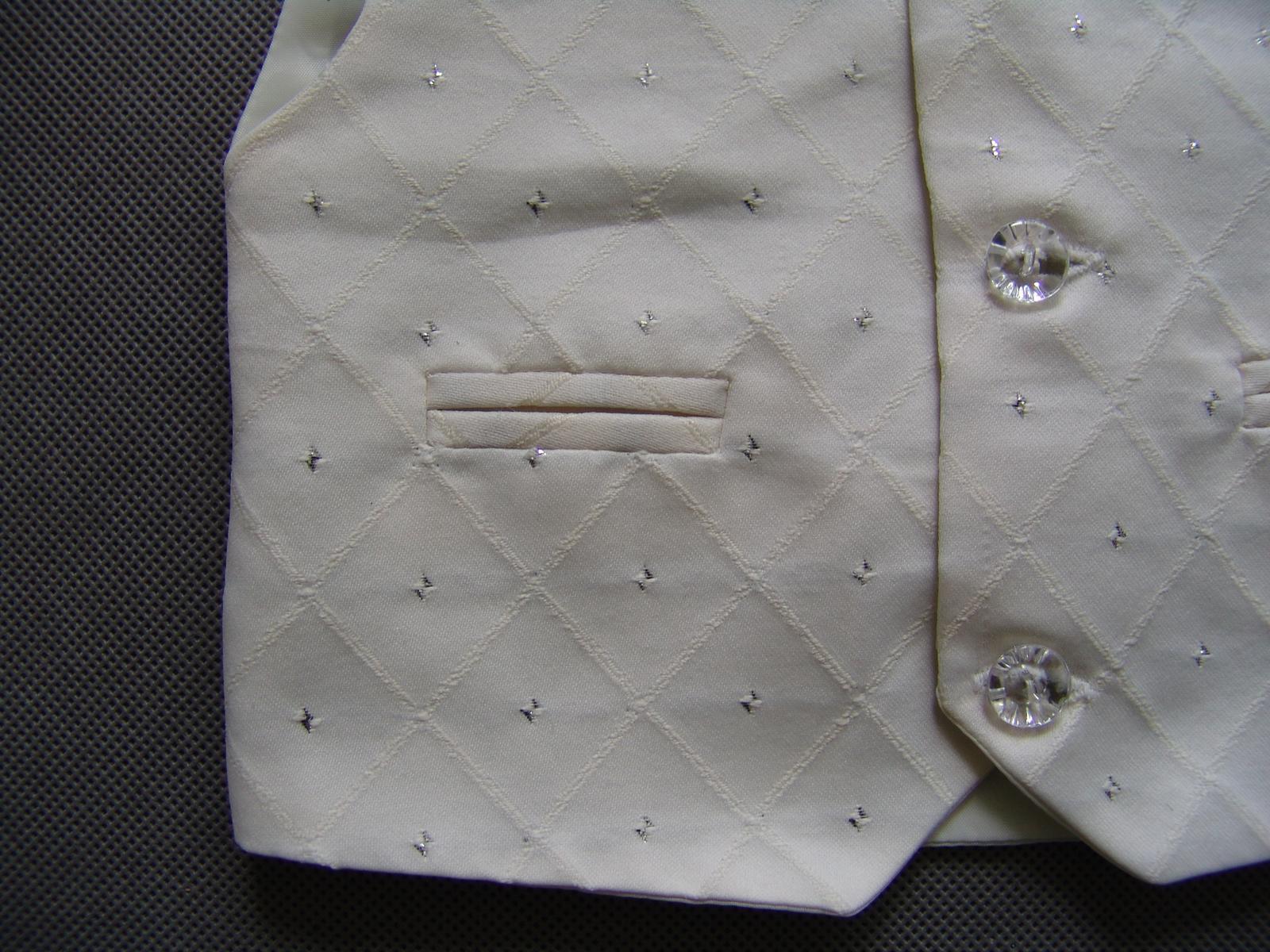SKLADEM - k zapůjčení ivory oblek, 0-3,9-12, 5 a 6 - Obrázek č. 4