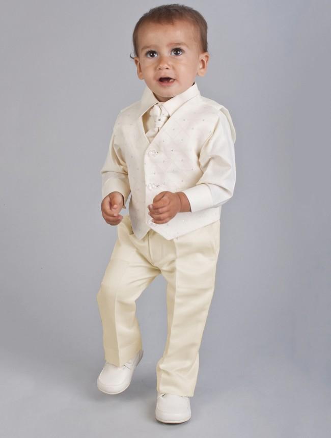 SKLADEM - k zapůjčení ivory oblek, 3-6 a 2 roky - Obrázek č. 4