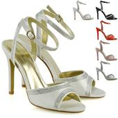 FS - Společenské, svatební sandálky, satén 36-41, 36