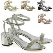 FS - Společenské, svatební sandálky, nízký podpate, 36