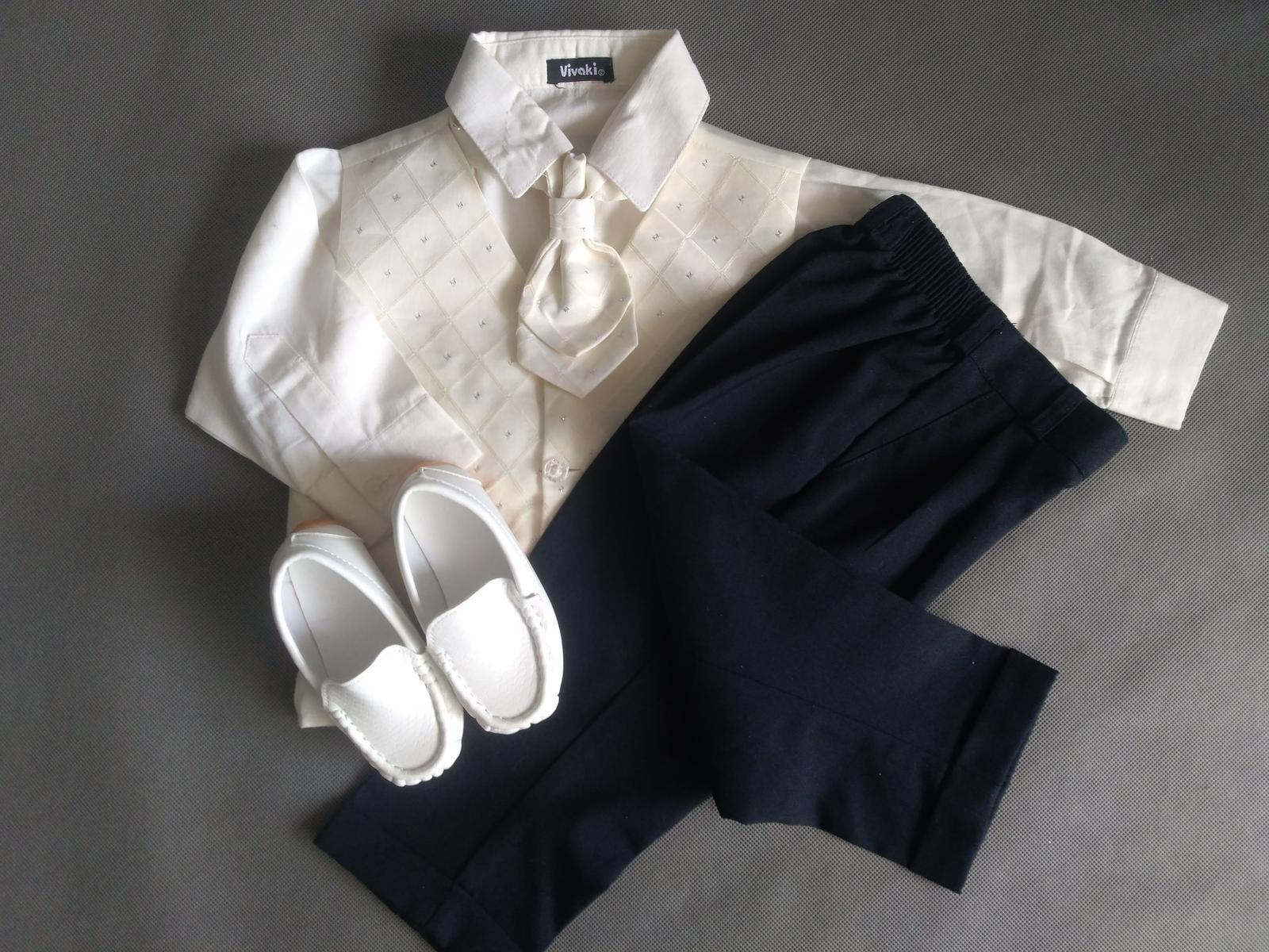 SKLADEM - k zapůjčení ivory oblek 9-12 měsíců - Obrázek č. 2