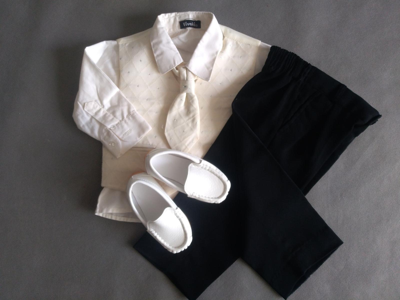 SKLADEM - k zapůjčení ivory oblek 9-12 měsíců - Obrázek č. 4