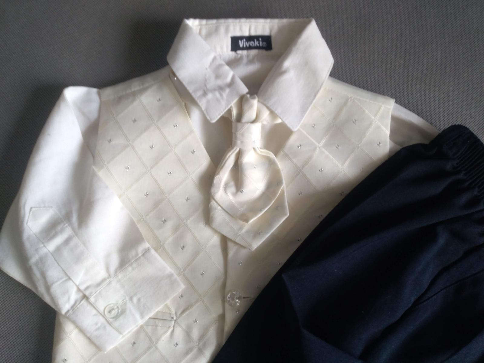 SKLADEM - k zapůjčení ivory oblek 12-18 měsíců - Obrázek č. 2
