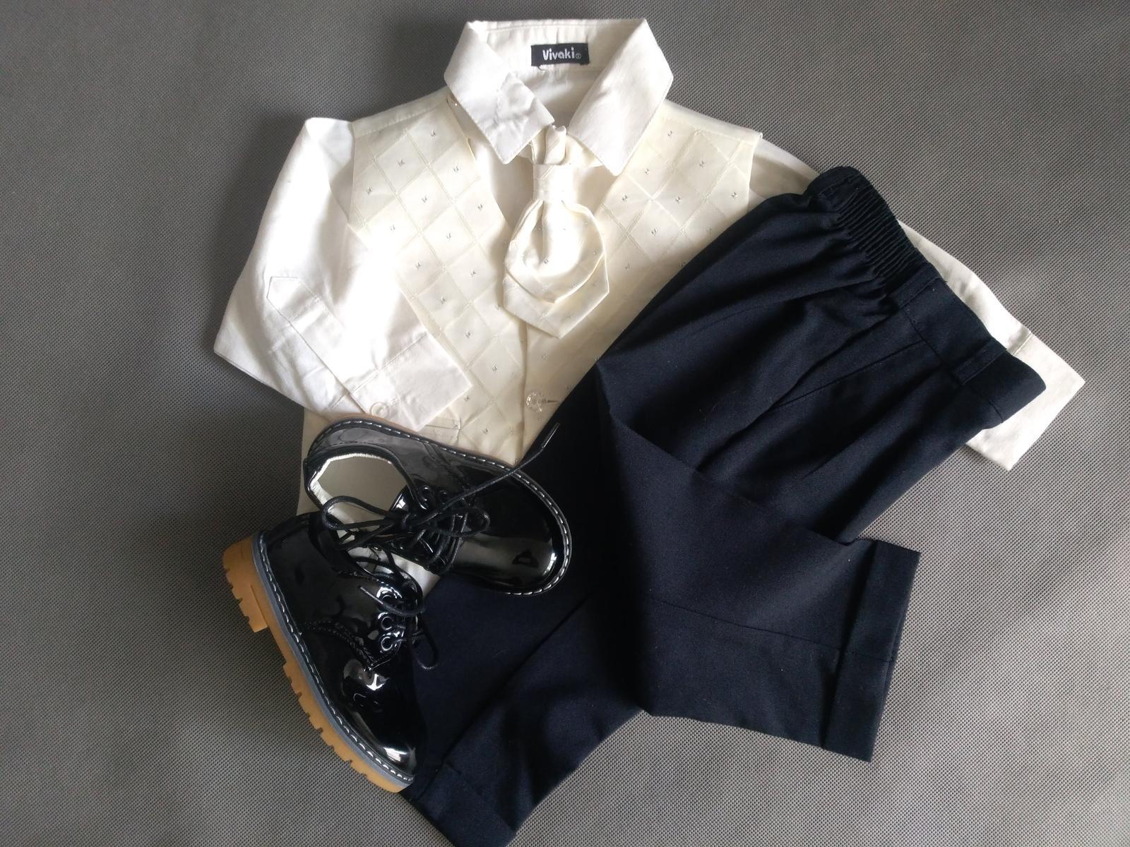 SKLADEM - k zapůjčení ivory oblek 12-18 měsíců - Obrázek č. 3