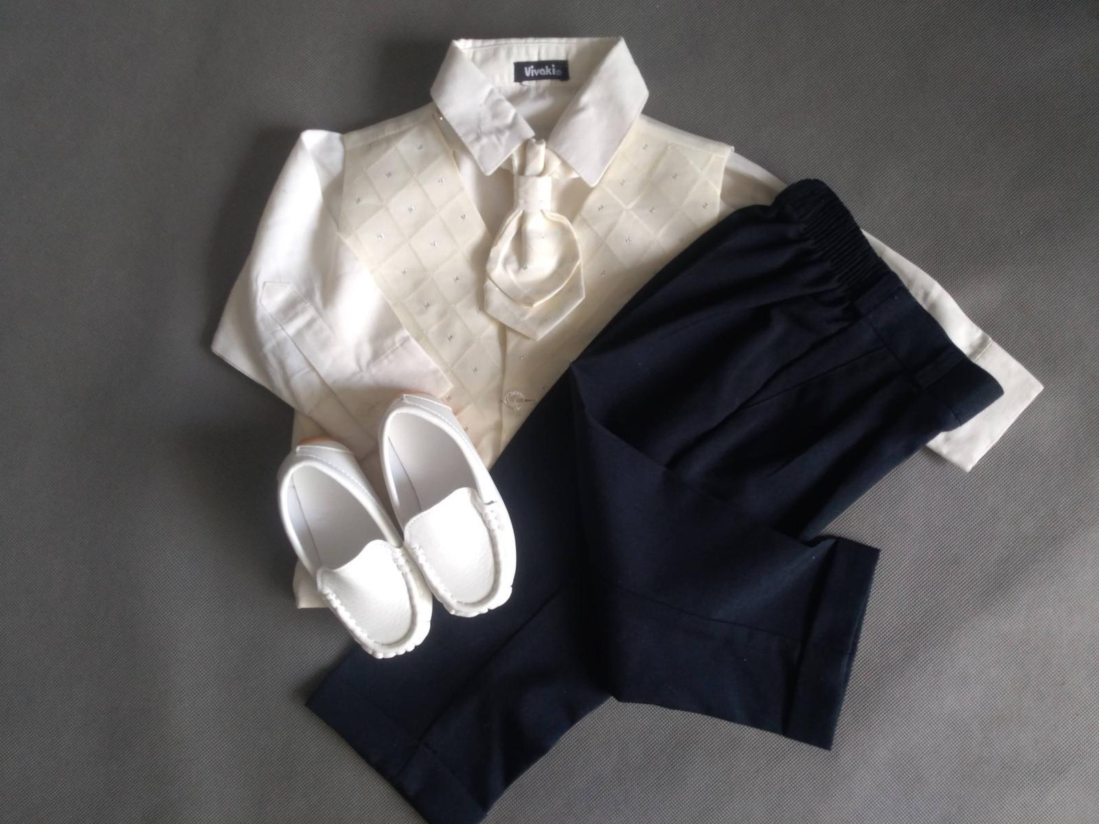 SKLADEM - k zapůjčení ivory oblek 12-18 měsíců - Obrázek č. 1
