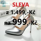 SKLADEM - SLEVA - Stříbrné lodičky, 38