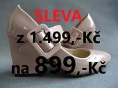 SKLADEM - SLEVA - Ivory béžové lodičky, 37
