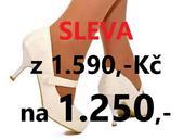 SKLADEM - SLEVA - ivory krajkové lodičky, 37
