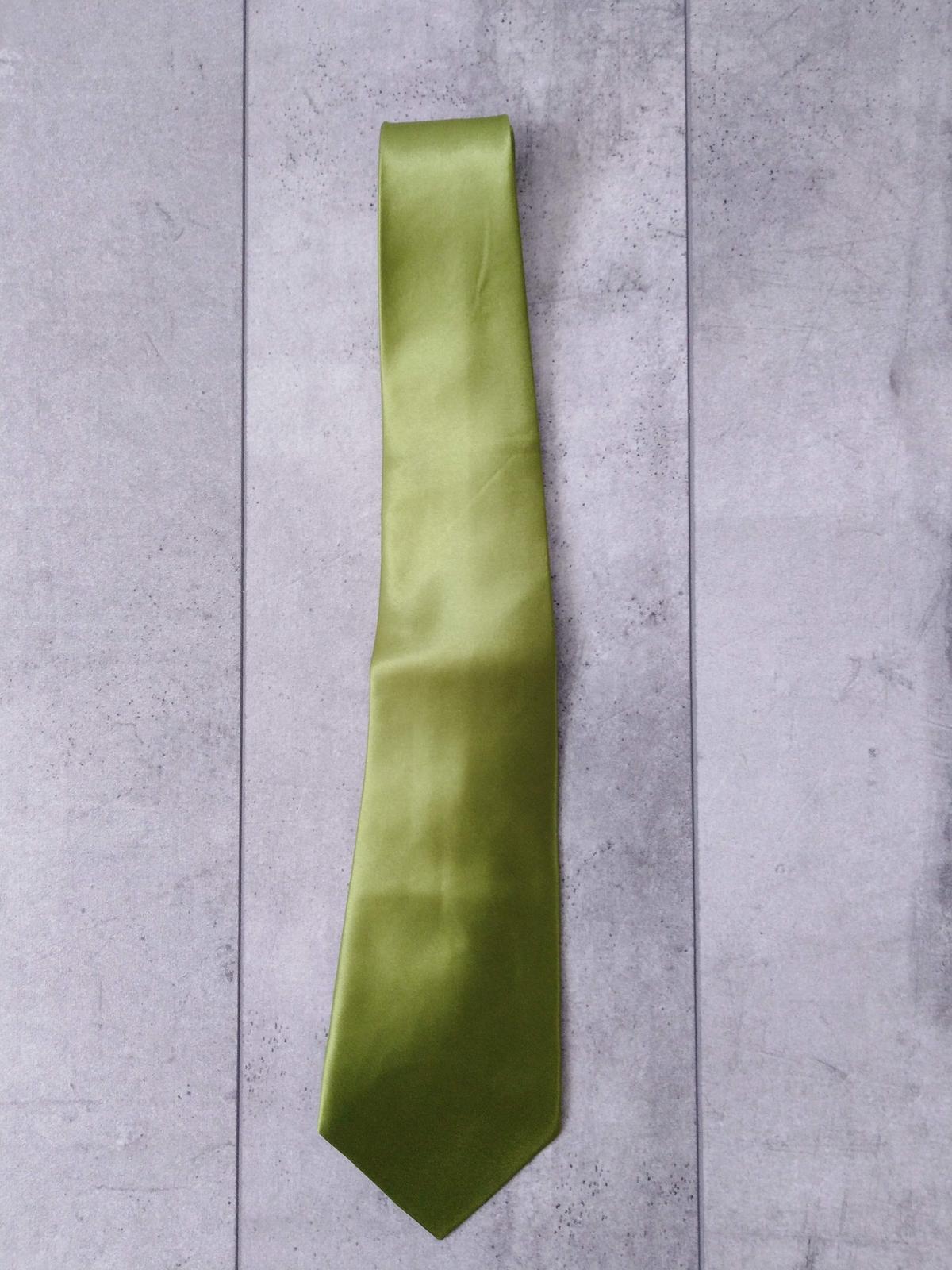 SKLADEM - pánská zelená kravata - Obrázek č. 3