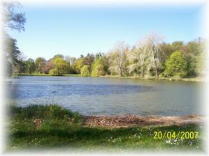 a taky u rybníku situovaném v zámeckém parku