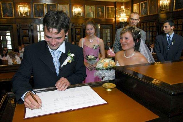 Podpis ženicha.