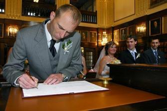 Svědek ženicha Mirek.
