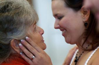 při gratulaích s babičkou
