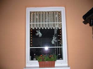 dolní okno v kuchyni