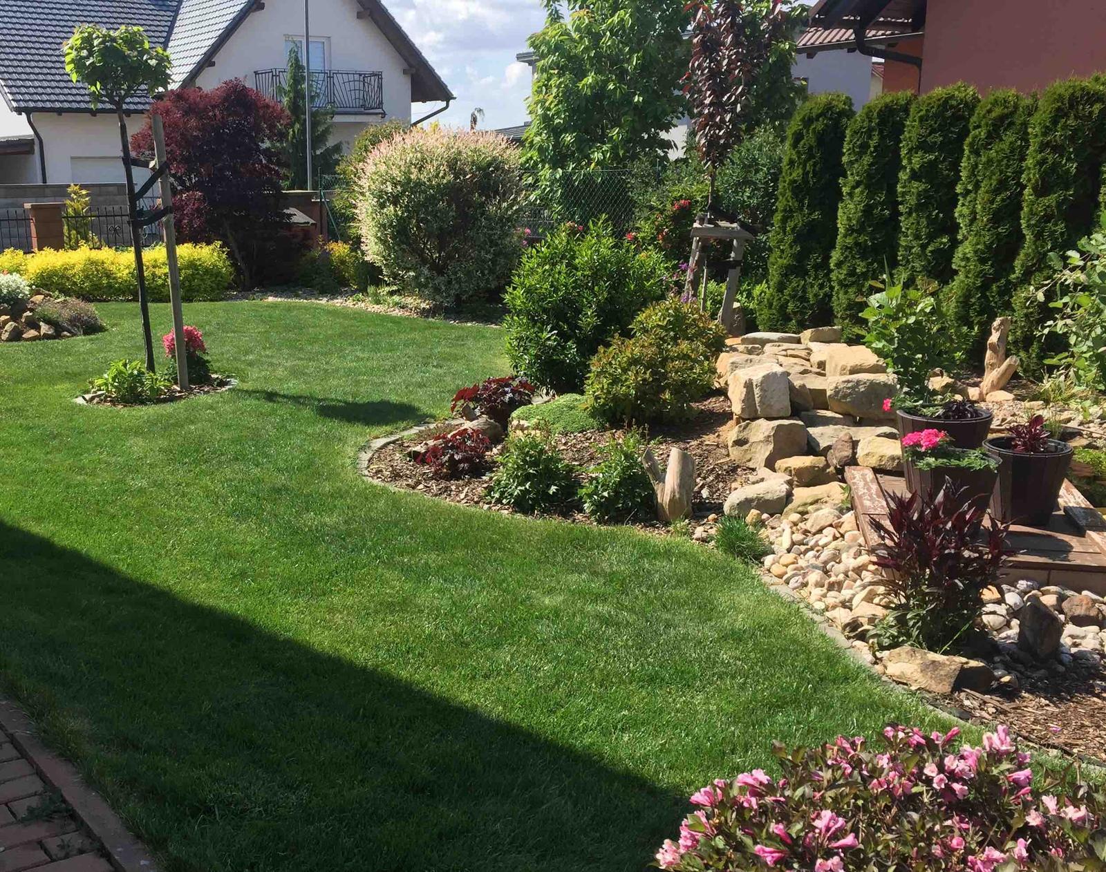 Naše barevná zahrada 🌸 - V zahradě to už krásně hraje barvami 🌸