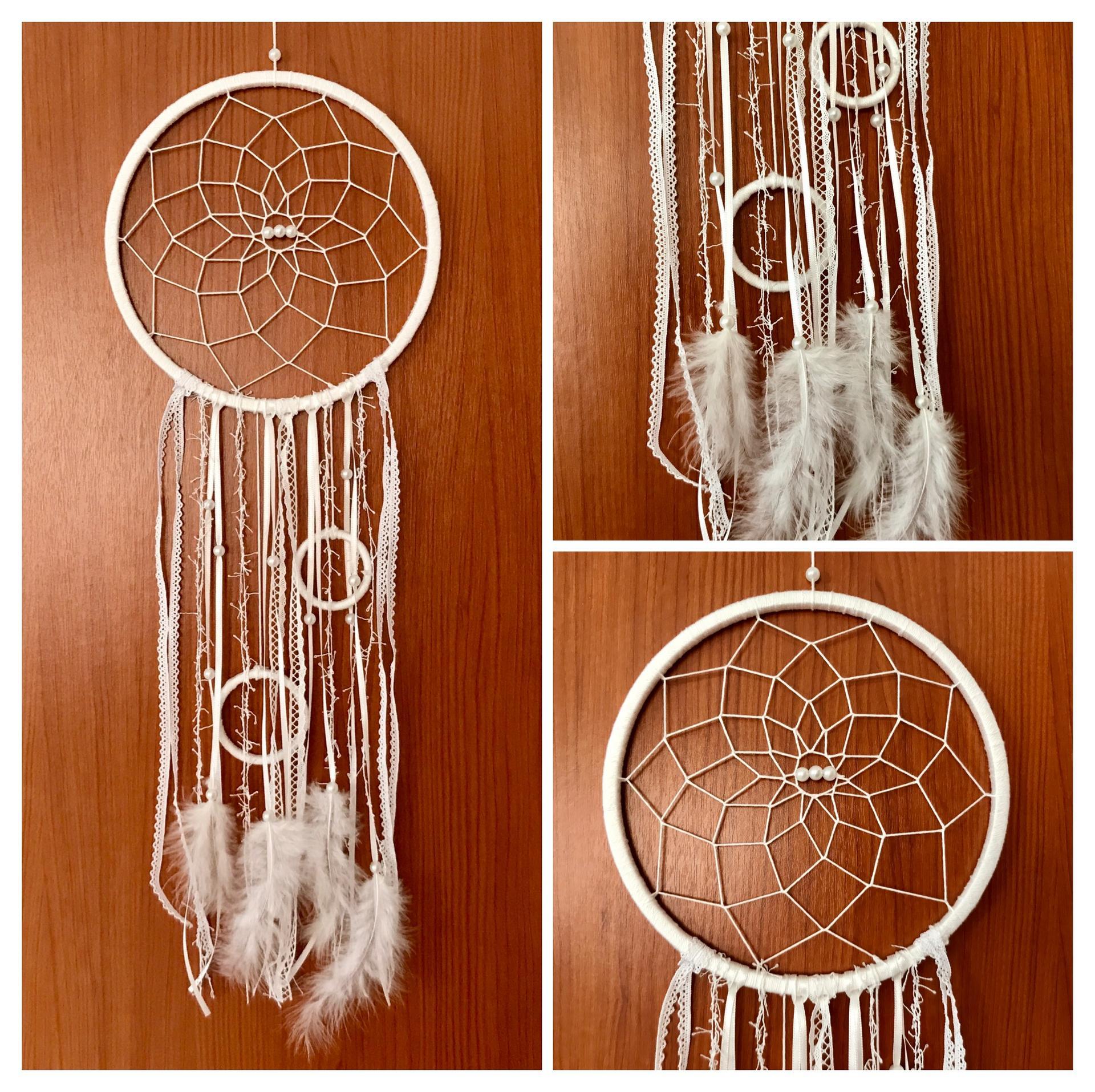 Miluji tvořit - Čistě bílý, perličky, kroužky a peříčka 🤗