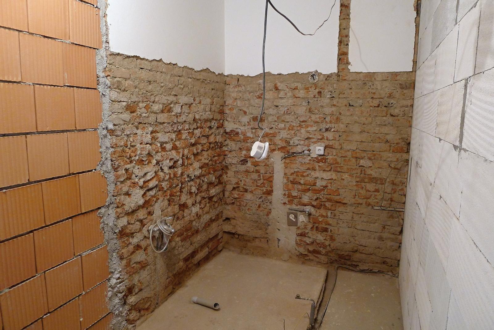 Rekonstrukce našeho domečku - koupelna