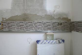 kamenná mozaika - bude jen pruh, zbytek obklad