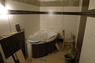 koupelna téměř hotová