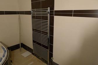 žebřík v koupelně