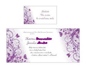 Objednané svatební oznámení a pozvánka ke stolu...