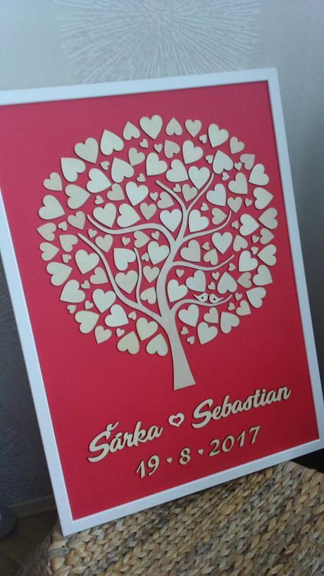 Svatební strom včetně rámu - 50x70cm - Obrázek č. 1