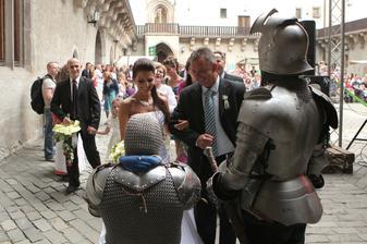 a takto ma privítali rytieri na zámku