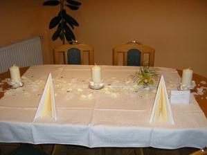 trochu jsem si doma hrála, ale vytvořila malou představu našeho stolu :)