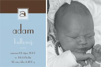 Oznámení o narození miminka. :-
