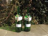 Zdobené láhve na víno 1,0l - 30 kusů,