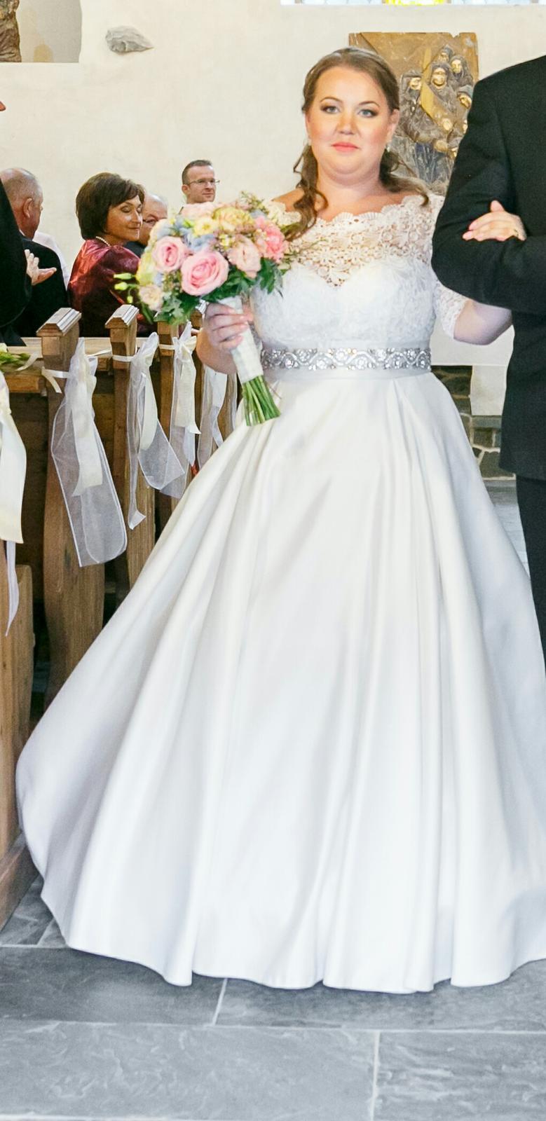 Svadobné šaty pre nízku nevesticku - Obrázok č. 3