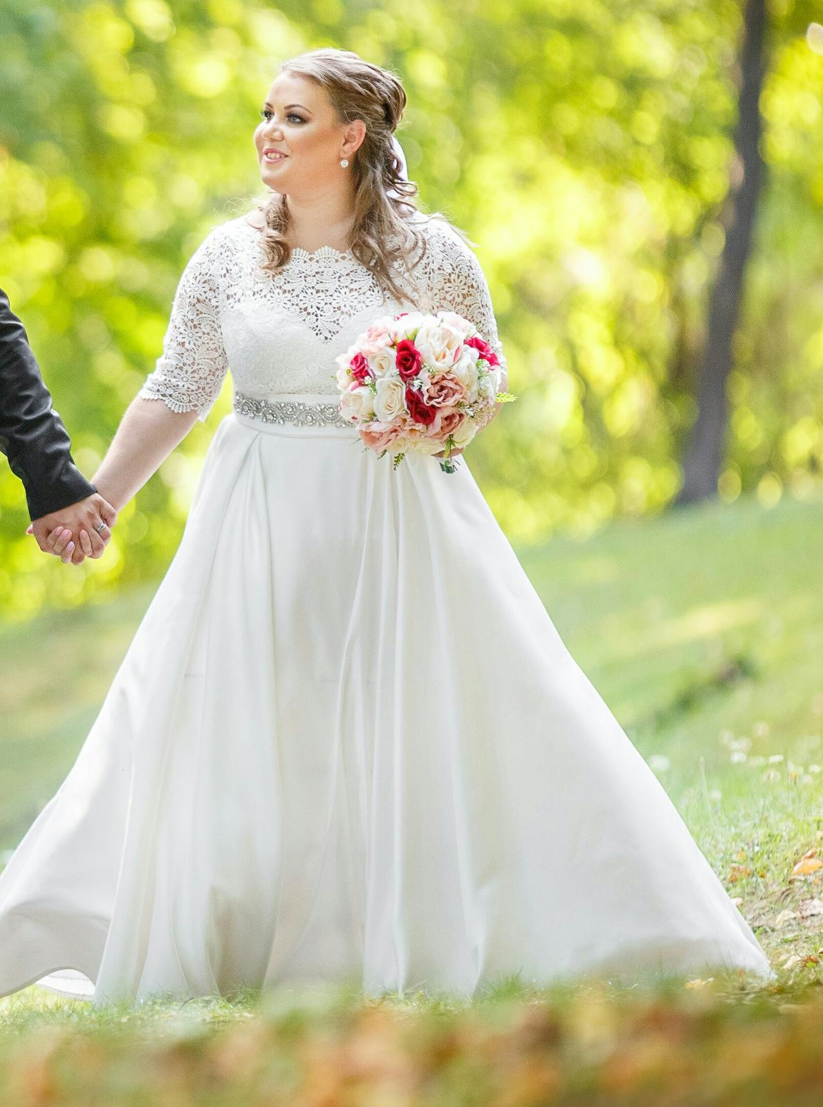 Svadobné šaty pre nízku nevesticku - Obrázok č. 2