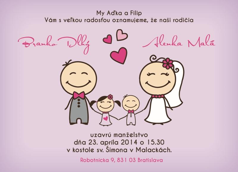 Svadobné oznámenia s vašimi detičkami - Obrázok č. 3