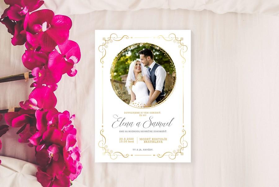 Elegantné svadobné oznámenia - Obrázok č. 1