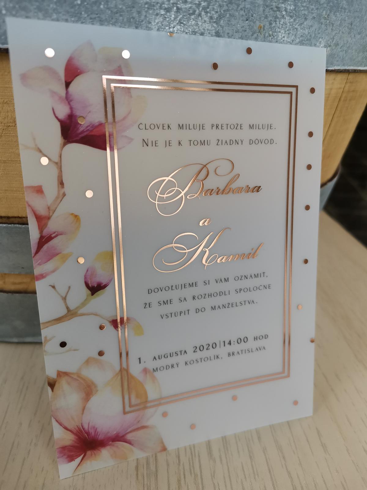 Transparentné svadobné oznámenia HIT 2020 - Obrázok č. 4