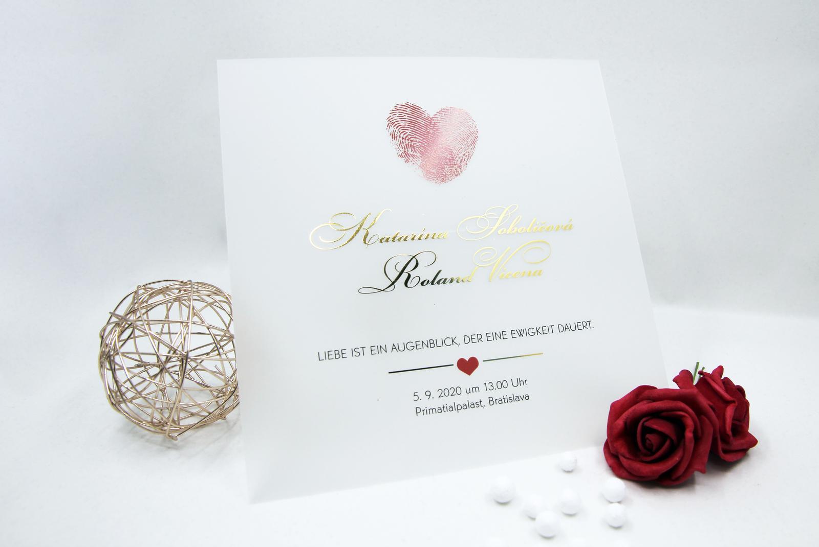 Transparentné alebo priesvitné svadobné oznámenia - Obrázok č. 2