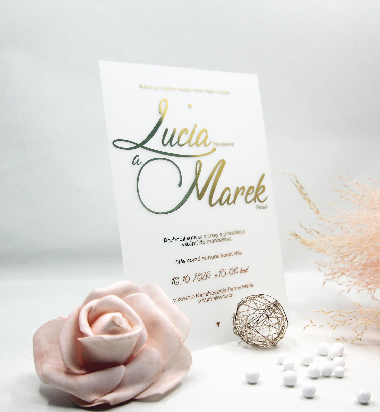 Transparentné alebo priesvitné svadobné oznámenia - Obrázok č. 3