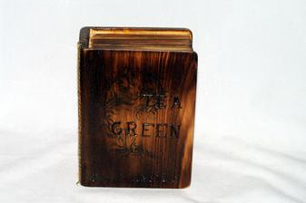 úprava drevenej krabičky opalovaním....