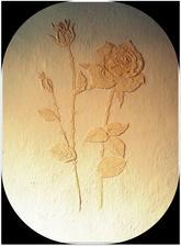 relief na stene zo štruktúr pasty...