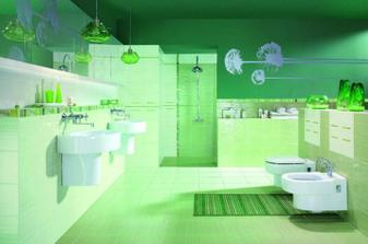 Zajímavá barva koupelny