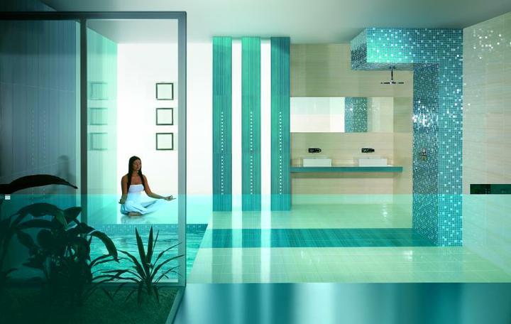 Návrh kúpelňových obkladov - PARADYZ - Sensual Blue
